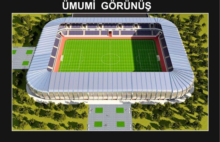 Sumqayıt şəhər stadionu belə olacaq - FOTOLAR
